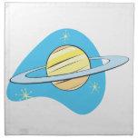 Retro Planet Saturn Printed Napkins