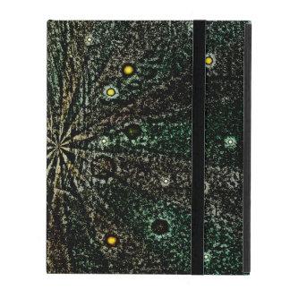 Retro planets and stars iPad cover