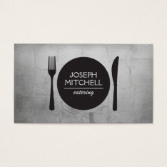 Retro Plate Logo For Chefs, Catering, Restaurants Business Card at Zazzle
