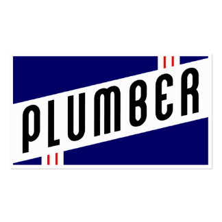 retro plumber business card template