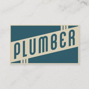 Plumbing business cards zazzle retro plumber business card colourmoves