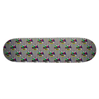 Retro PM5544 Television Test Pattern Skateboard