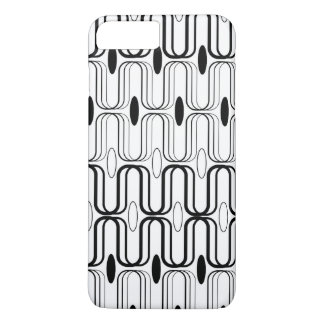 Retro Pod Black Abstract Mod Art iPhone CaseMate iPhone 7 Plus Case