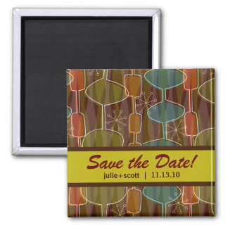 Retro Pods Save the Date Magnets