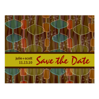 Retro Pods Save the Date Postcard