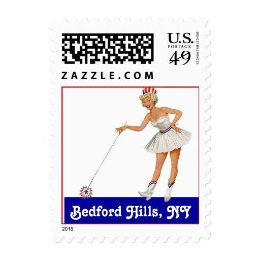 Retro Point Bedford Hills New York NY Travel Stamp