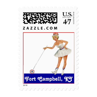 Retro Point Fort Campbell Kentucky KY Travel Stamp