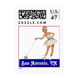 Retro Point San Antonio TX Texas Travel Stamp