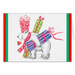 Retro Polar Bearing Gifts Christmas Greeting Card