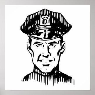Retro Policeman Poster