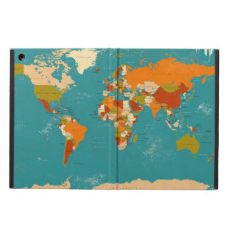 Retro Political Map of the World iPad Air Cover