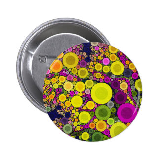 Retro Polka Dot 2 Inch Round Button