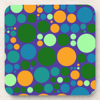 Retro Polka Dot Mosaic Pattern #5 Drink Coaster
