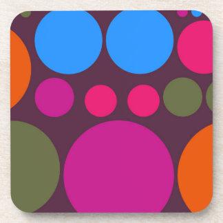 Retro Polka Dot Mosaic Pattern #6 Coaster