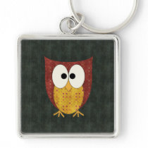Retro Polka Dot Owl Keychain