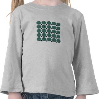 Retro Polka Dot Party in Green Tee Shirt