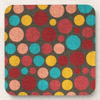 Retro Polka Dot Pattern #3 Beverage Coaster