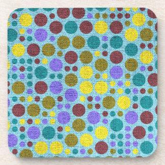 Retro Polka Dot Pattern #5 Coaster