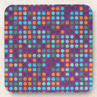 Retro Polka Dot Pattern #7 Coaster
