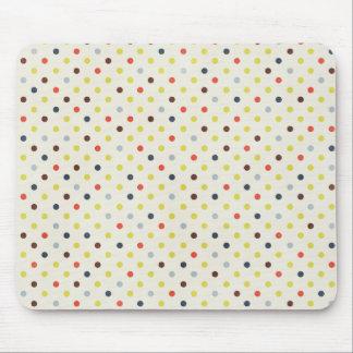 Retro Polka dot Pattern Mouse Pad