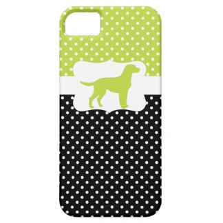 Retro Polka Dot w/Labrador iPhone SE/5/5s Case