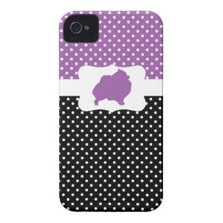 Retro Polka Dot w/Pomeranian iPhone 4 Case-Mate Case