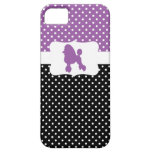 Retro Polka Dot w/Poodle iPhone 5 Cases