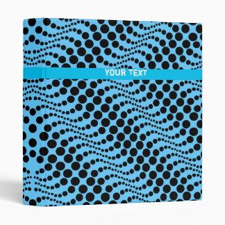 Retro Polka Dot Wave Binder Blue Black