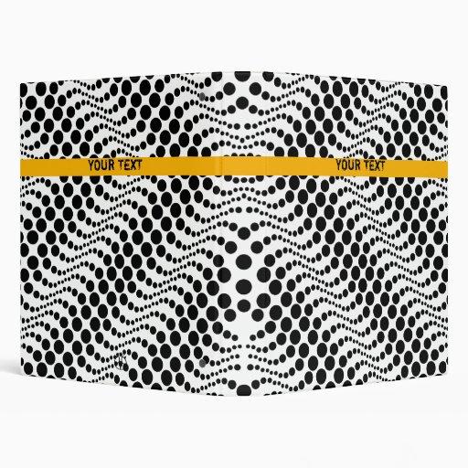 Retro Polka Dot Wave Binder White Black 6