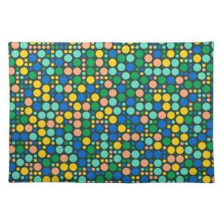 Retro Polka Dots   Abstract Art 4 Cloth Placemat