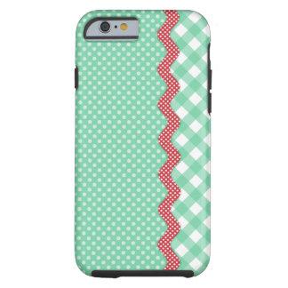 Retro Polka Dots and Checks Tough iPhone 6 Case