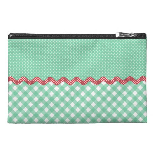 Retro Polka Dots and Checks Travel Accessories Bags
