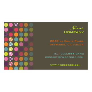 Retro polka dots Double-Sided standard business cards (Pack of 100)
