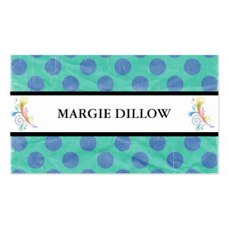 Retro Polka Dots Business Cards