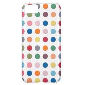 Retro Polka Dots - Color Love iPhone 5 Case
