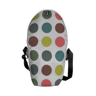 Retro polka dots courier bag