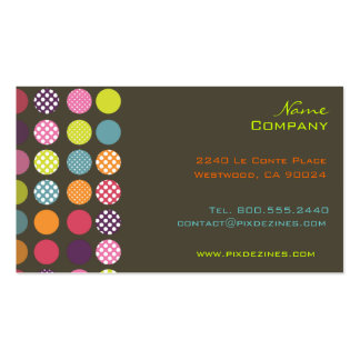 Retro polka dots/diy background color business card