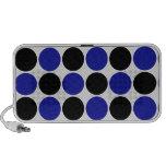 Retro Polka Dots in Blue & Black iPod Speaker