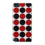 Retro Polka Dots in Red & Black iPod Touch (5th Generation) Case