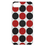 Retro Polka Dots in Red & Black iPhone 5C Cover