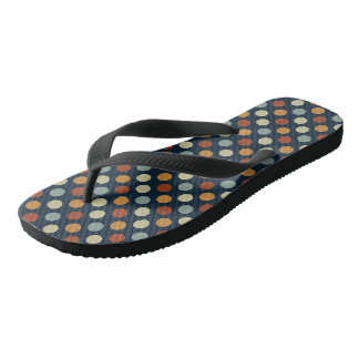 Retro Polka Dots Flip Flops