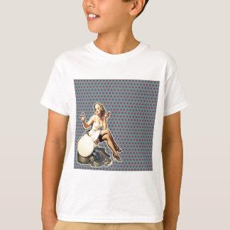 Retro polka dots Vintage pin up girl T-Shirt