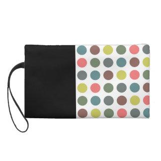 Retro polka dots wristlet purse