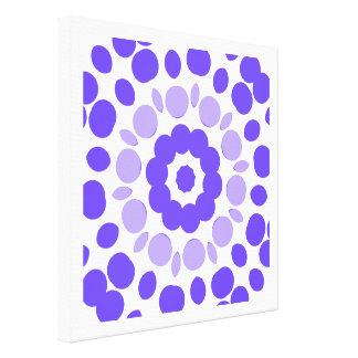 retro polka mandala stretched canvas prints
