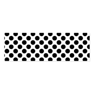 Retro Polkadots - Black & White Double-Sided Mini Business Cards (Pack Of 20)