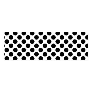 Retro Polkadots - Black & White Business Card