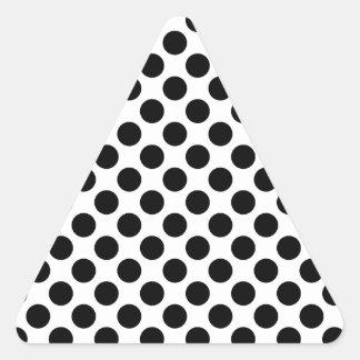 Retro Polkadots - Black & White Triangle Sticker