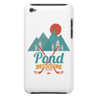 Retro Pond Hockey Barely There iPod Cover
