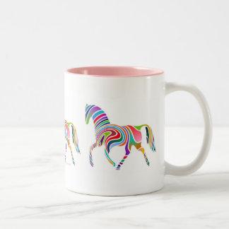 Retro Pony Two-Tone Coffee Mug