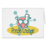 Retro Poodle Lounge Greeting Card